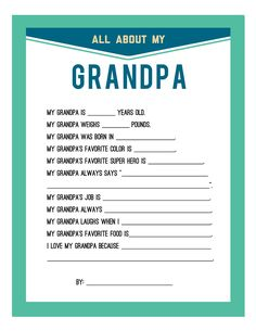 Persnickety Prints Blog: Fathers Day Printable #survey #Questionnaire #fathersday