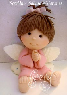angel chica porcelana fria polymer clay