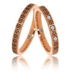 Verighete Otilia aur roz Engagement Rings Couple, Couple Rings, Bangles, Bracelets, Cartier Love Bracelet, Band Rings, Diamond Jewelry, Rings For Men, Silver