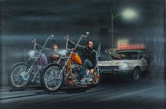 David Mann Art Easyriders | David Mann Motorcycle Art Poster Fuzz Busters Easyriders Cops Police ...