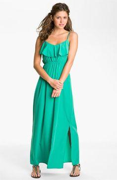 Soprano 'Milla' Ruffle Maxi Dress (Juniors)   Nordstrom