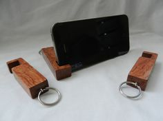 Compact Phone Stand inotch1 in Bubinga by UllapoolBoxCreations