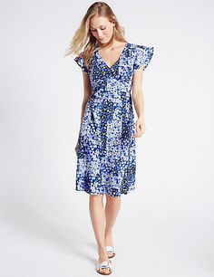 Poppy Floral Print Swing Dress