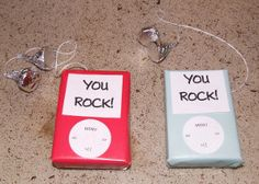 Tell your friends that they rock with the Rockin' Candy iPod Valentine!