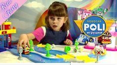 Видео для детей Рита играет в сюжетные игры Робокар Поли набор для детей...