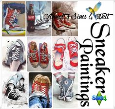 Annett`s Sims 4 Welt: Sneakers Paintings • Sims 4 Downloads  Check more at http://sims4downloads.net/annetts-sims-4-welt-sneakers-paintings/