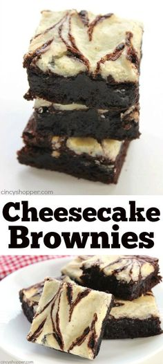Cheesecake Brownies Easy Cheesecake Brownies - Fudge brownies with yummy cheesecake swirls.Easy Cheesecake Brownies - Fudge brownies with yummy cheesecake swirls. Fudge Brownies, Cheesecake Brownies, Brownie Cake, Cheesecake Desserts, Easy Cheesecake Recipes, Mini Desserts, Delicious Desserts, Yummy Food, Quick Easy Desserts