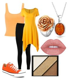 """""""legging orange"""" by zombiebarbie1333 on Polyvore featuring Miss Selfridge, Boohoo, Converse, Elizabeth Arden, West Coast Jewelry and Bling Jewelry"""