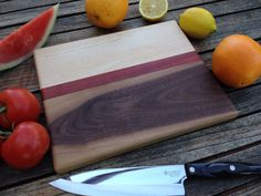 Wood Cutting Board, Cutting board, Butcher Block, Chopping Block, Maple, Father's Day, Men, Kitchen, Cookware, Gifts for Him, Wedding Gift by RandIngDesign on Etsy