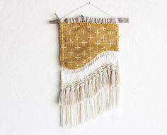 Vintage textil tejido colgante tejida a mano