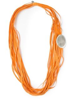 Women's Fashion - Designer must haves for 2018 Strand Necklace, Beaded Necklace, Necklaces, Orange, Yellow, Necklace Designs, Jewellery, My Style, Wood