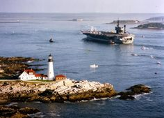 New England Lighthouses, Lighthouse Lighting, Battle Ships, Us Navy Ships, Army Vehicles, Military Life, Submarines, Aircraft Carrier, Portsmouth