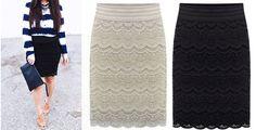 Lace Pencil Skirts | toAdorn.com