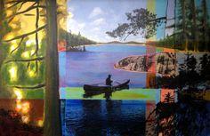 North 1 - Acrylics and photocopy transfer - Toronto 2014