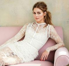 Olivia Palermo + wedding dress = Flawless... of course | Brides Magazine June 2014