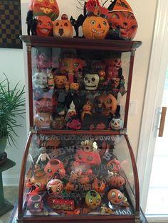 Vintage halloween display cabinet
