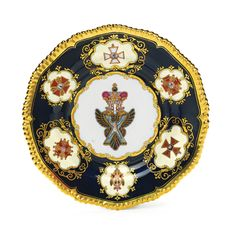 Russian porcelain plate from the Tsar Nicholas I service, Imperial Porcelain Manufactory, St. Petersburg, Period of Nicholas I (1825-1855).
