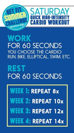 The cardio workout you'll do every Saturday as part of the #BuzzFeedGetFit Summer Challenge!