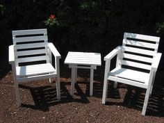 Diy - Plans To Make - Lawn Chair And Cocktail Table Set - Outdoor Furniture
