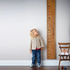 Personalised 'Kids Rule' Wooden Ruler Height Chart - for under 5's