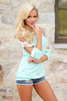 I Knew I Loved You Top - Mint from Closet Candy Boutique #fashion #ootd #spring