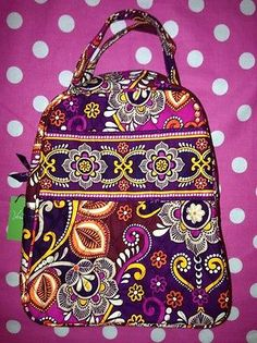 8aca51fdeb68 New Vera Bradley Lets do Lunch Safari Sunset Pink Box Bag School Tote  Cooler
