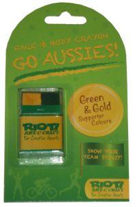 Body/Face Crayon - Aussie Green & Gold A$2.95