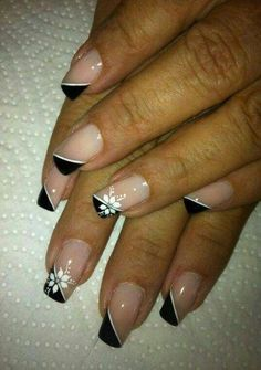 Nail art Christmas - the festive spirit on the nails. Over 70 creative ideas and tutorials - My Nails Fingernail Designs, Toe Nail Designs, Nails Design, Do It Yourself Nails, French Nail Designs, French Tip Nails, French Toes, French Manicures, Super Nails