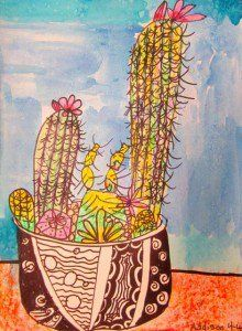 The Cactus Project | Georgetown Elementary Art Blog