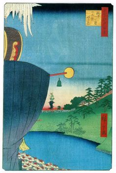 Hiroshige. Full moon festival