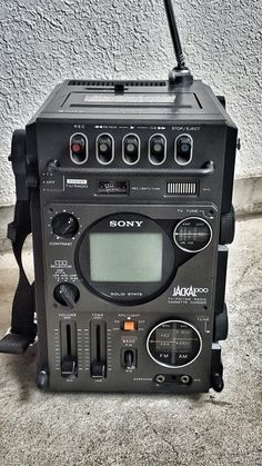 The Sony™ Jackal Model - A TV, Radio & Cassette Recorder in one. Tvs, Radio Amateur, Sony Electronics, Portable Tv, Tv Display, Vintage Tv, Vintage Stuff, Audio Equipment, Recording Equipment
