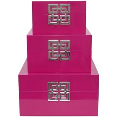 Three Hands Box Set Of 4 Fuschia 111 Liked On Polyvore