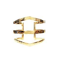 Susana Tres Band Cuff, Gold