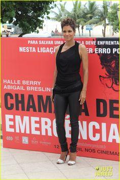 Pregnant Halle Berry: The Call Rio de Janeiro Photo Call!