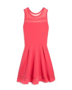 Sally Miller Girls' Mesh Inset Flared Dress - Sizes S-XL Kids - Bloomingdale's Pretty Dresses, Beautiful Dresses, Bat Mitzvah Dresses, Sally Miller, Spring Dresses, Flare Dress, Kids Outfits, Party Dress, Girls Dresses