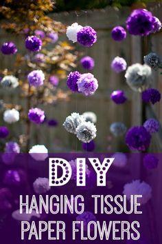 DIY hanging tissue paper flowers tutorial