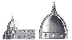 Dibujos de la cupula de Brunelleschi. Imagen cortesía de Il Grande Museo del Duomo. Señala encima de la imagen para verla más grande.