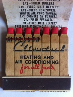Vtg Feature Matchbook L J Mueller Furnace Co Heating Air Conditioning | eBay