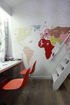 foorni.pl | pokój dziecięcy - kolorowa mapa, fototapeta.