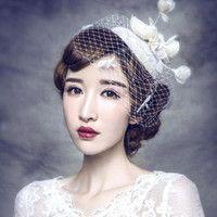 Wholesale 2016 Audrey Hepburn S Vintage Elegant Bridal Birdcage Headpieces Lace Flower Beaded Wedding Bridal Hats Party Accessory CPA514