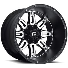 D532 - Hostage Deep Matte Black & Machined - Fuel Off-Road Wheels