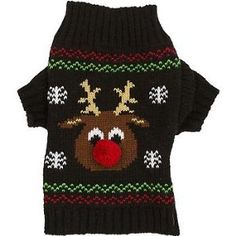 Petco Wag-a-tude Holiday Reindeer Dog Sweater, XX-Small   ♥ Available at BuyDogSweaters.com