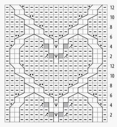 A crochet tutorial for a decorative stitch pattern using the granny spike stitch. Step by step instructions and a free pattern for a gorgeous crochet Knitted Heart Pattern, Cable Knitting Patterns, Knitting Charts, Loom Knitting, Knitting Stitches, Knit Patterns, Stitch Patterns, Heart Patterns, Beautiful Crochet