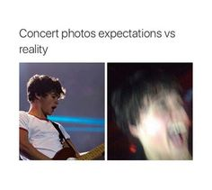 Concert Photos: Expectations vs Reality