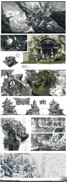 68 super Ideas for game concept art environment temples Landscape Concept, Fantasy Landscape, Fantasy World, Fantasy Art, Rpg Horror, Rpg Dice, Game Design, Web Design, Environment Concept Art