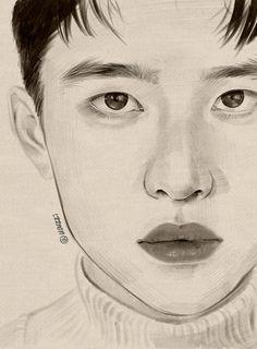 Sketches, Exo Art, Art Drawings, Beautiful Drawings, Kpop Drawings, Art Style, Art, Canvas Art, Canvas Art Painting