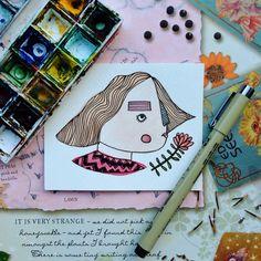 Stripy Nose Gal | Sarah Rimington Illustration