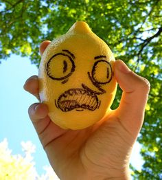 Be scary-hilarious if lemons actually started coming off the trees looking like Mr. Grab here! That might be...UNACCEPTABLE!!!!