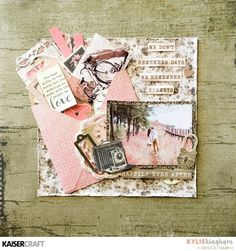 Happily Ever After : Gallery : A Cherry On Top Mixed Media Scrapbooking, Scrapbooking Layouts, Scrapbook Albums, Scrapbook Cards, Art Journal Inspiration, Layout Inspiration, Wedding Scrapbook, Ink Pads, Card Sketches
