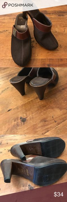 Italian 8 Really nice brown suede and leather Italian made slip on's. European size 39 which is a size 8 made in Italy. italian shoe makers Shoes Mules & Clogs